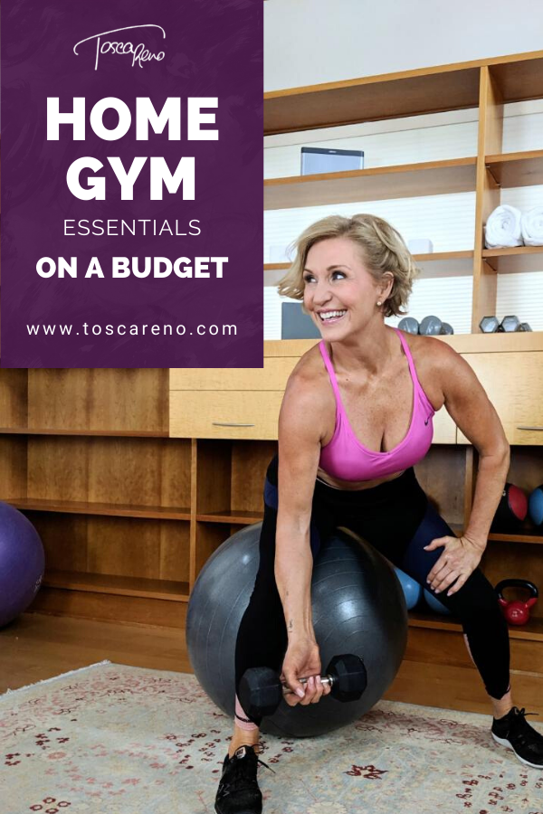 An image of Tosca Reno's recommended home gym equipment